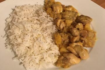 Pollo al Curry: con un mio tocco personale.